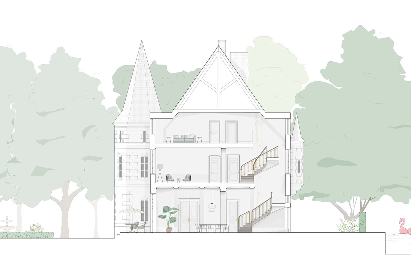 Chateau Refurbishment, proposed section