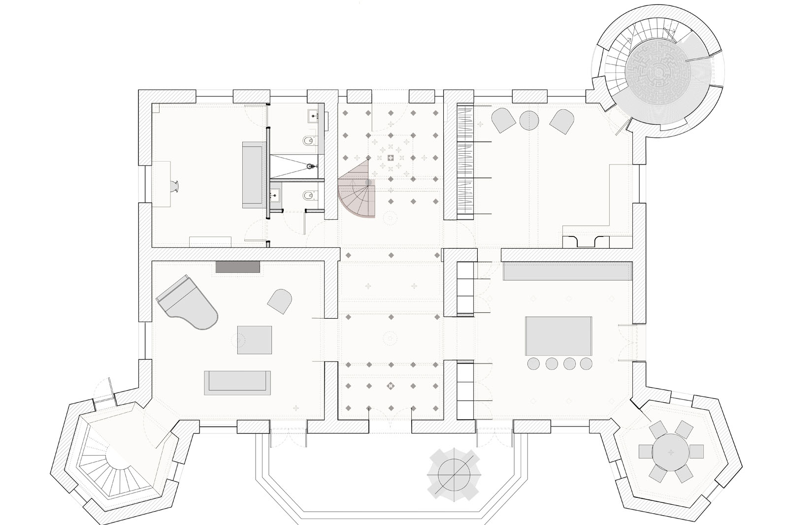 Chateau Refurbishment, proposed ground floor