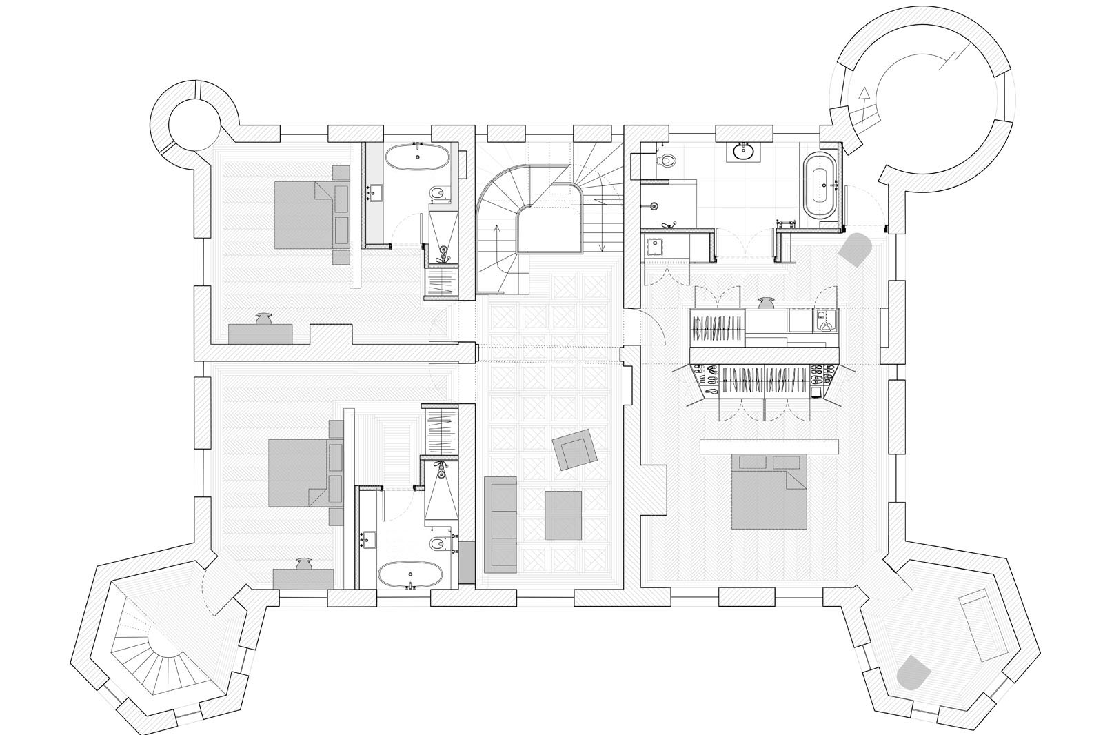 Chateau Refurbishment, proposed first floor