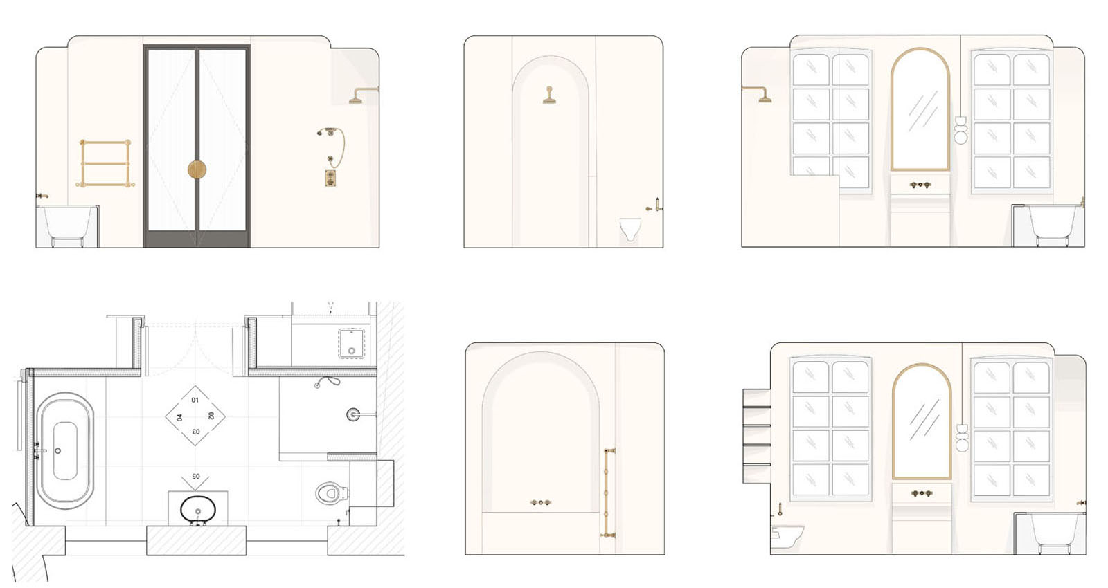Chateau Refurbishment, proposed master bathroom