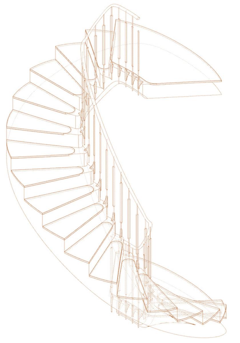 Hamilton Gardens Townhouse: new staircase