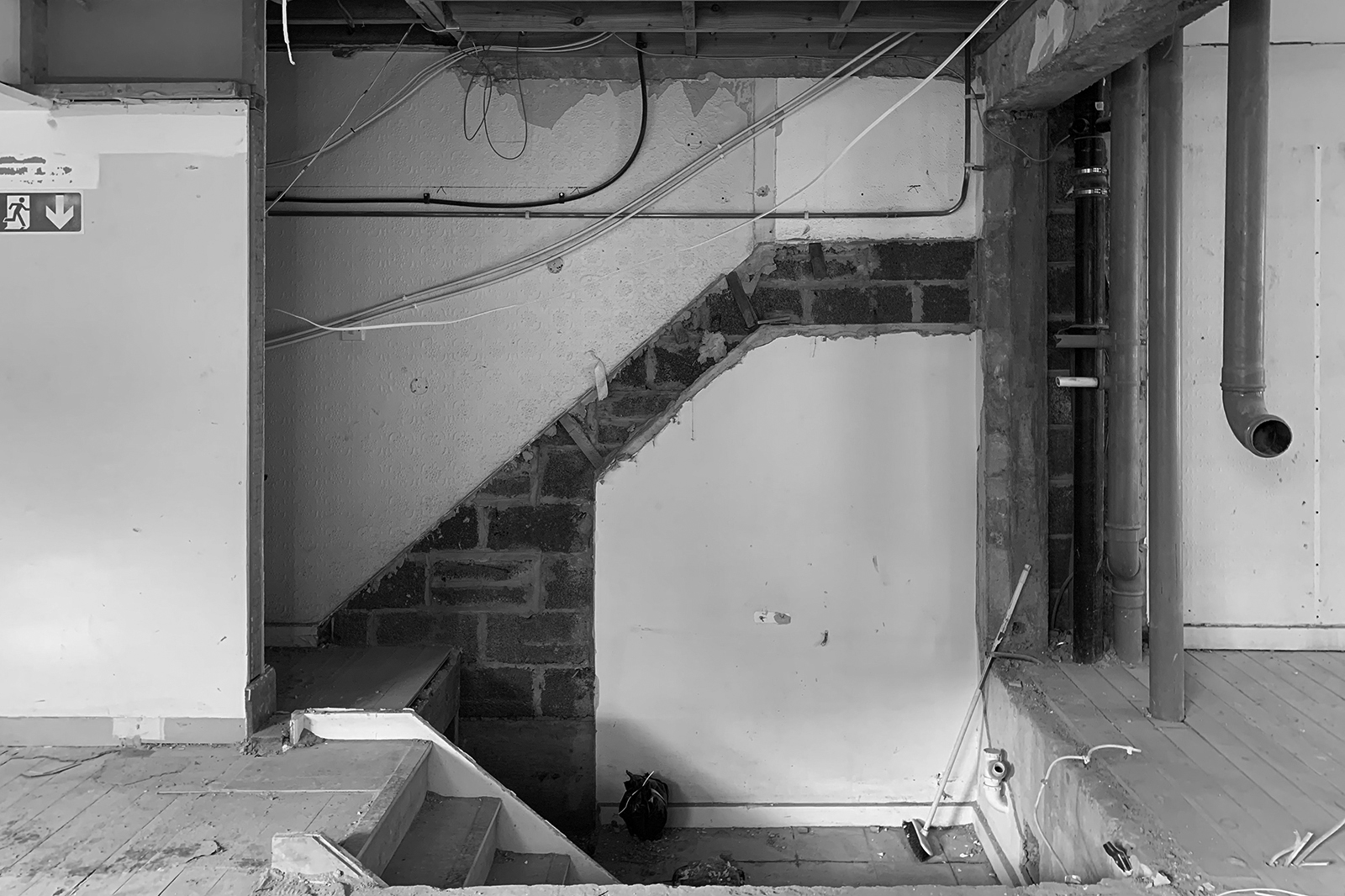 Hampstead office, during construction