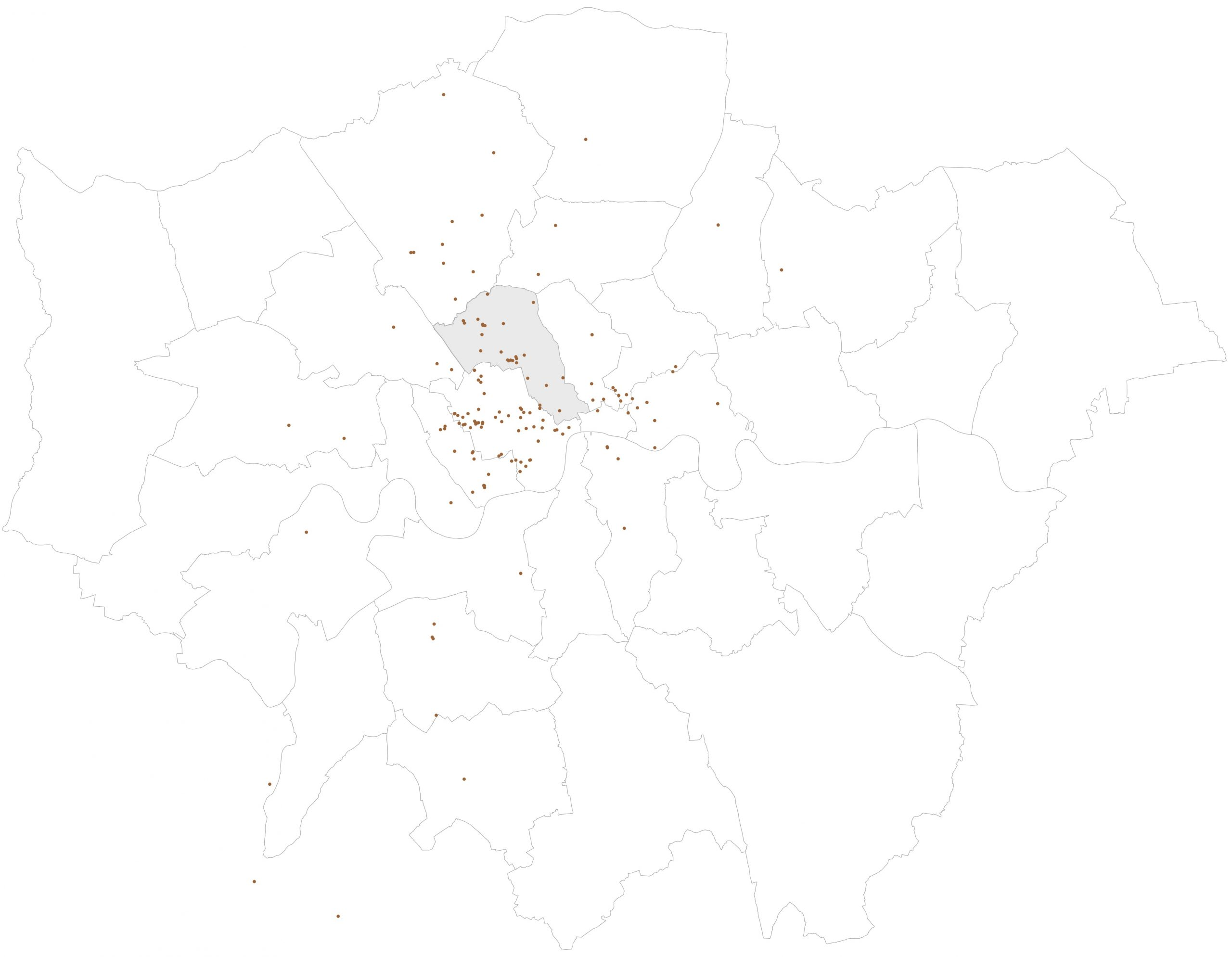 Camden Architects: Patalab London project map