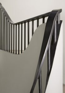The Bird in Hand Hampstead: steel handrail