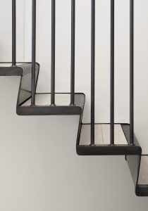 The Bird in Hand Hampstead: folded metal staircase