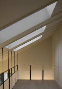 The Bird in Hand Hampstead: office with skylights