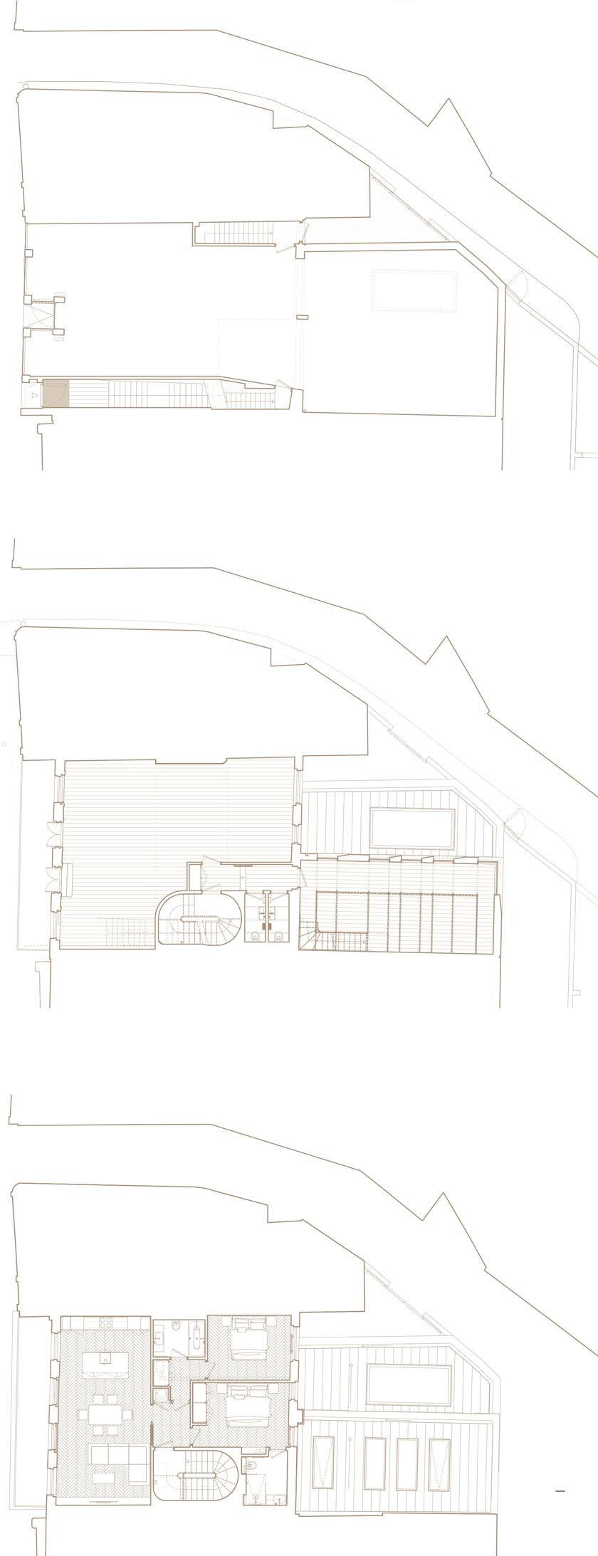 The Bird in Hand Hampstead: floor plans