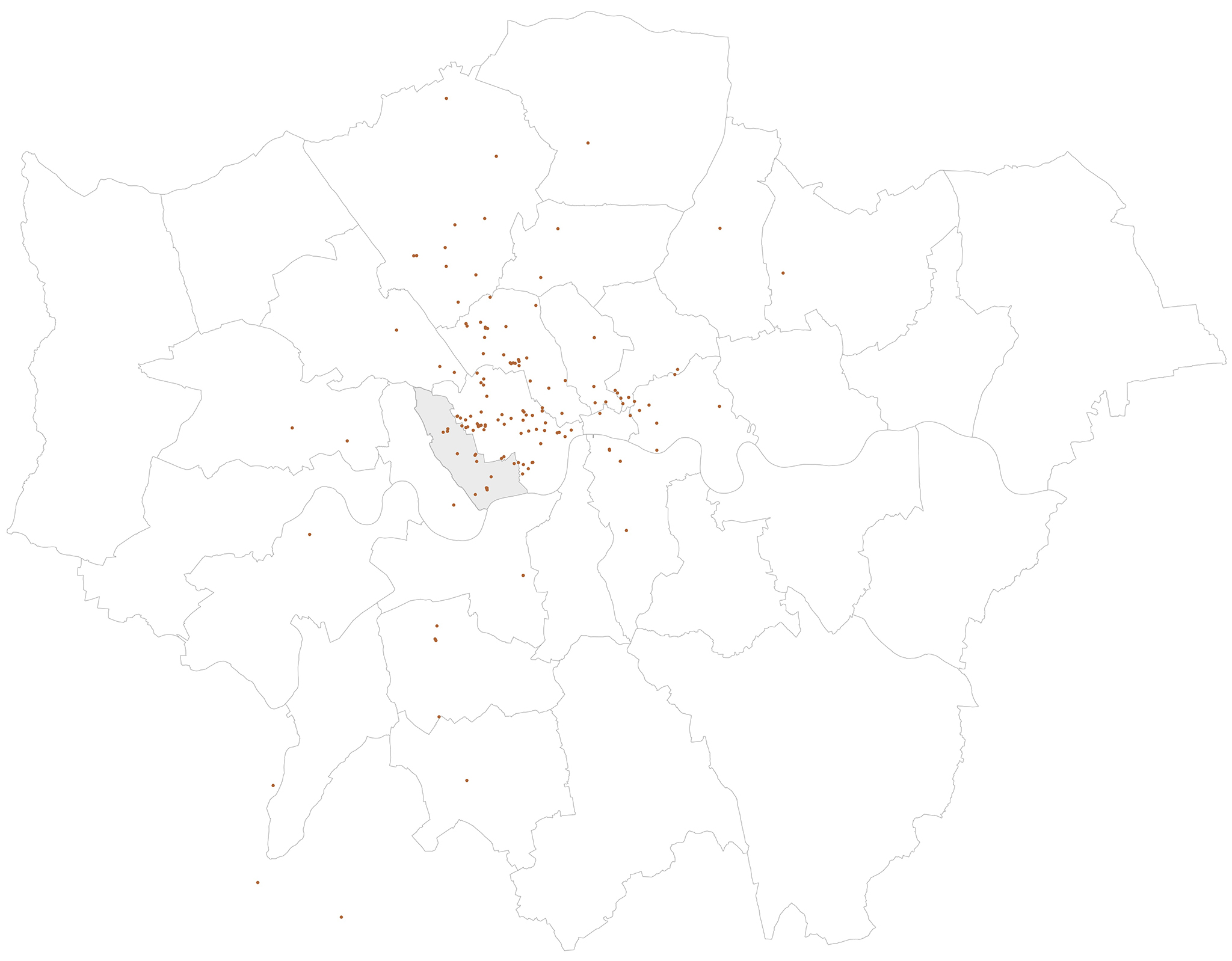 Kensington and Chelsea Architects: Patalab London project map