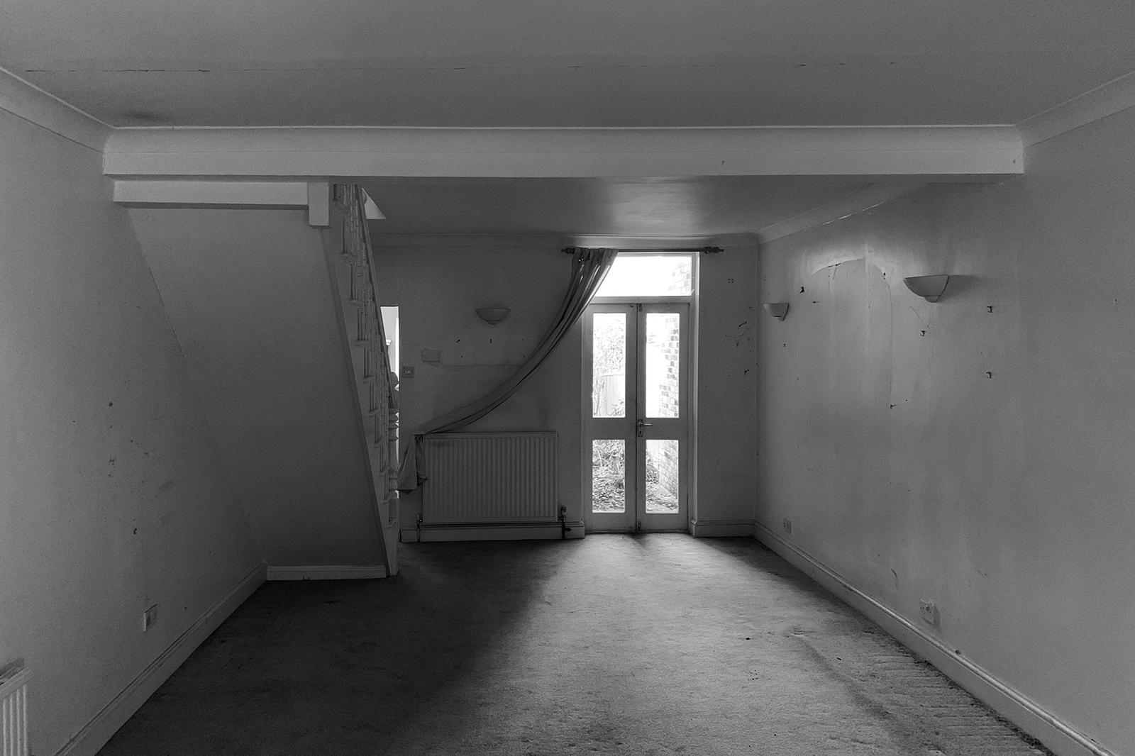 Wandsworth Cottage: ground floor prior construction