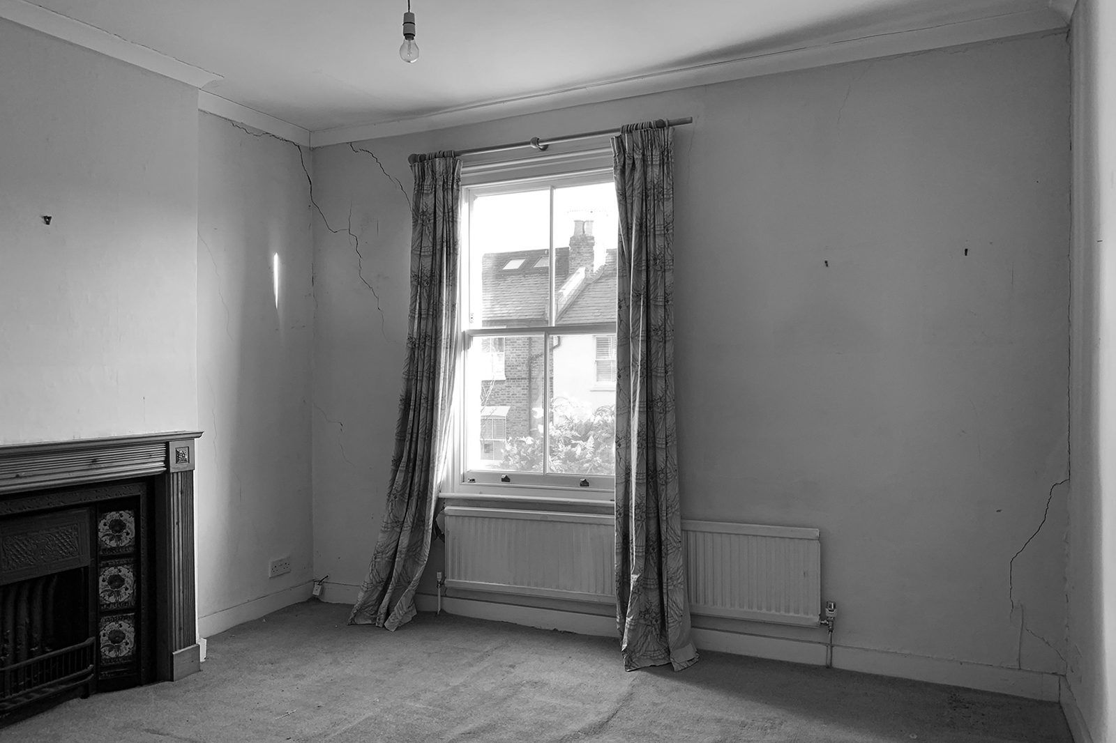 Wandsworth Cottage: bedroom before construction