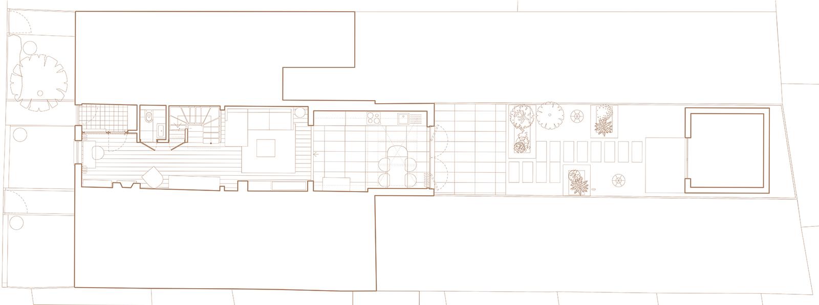 Wandsworth Cottage: ground floor