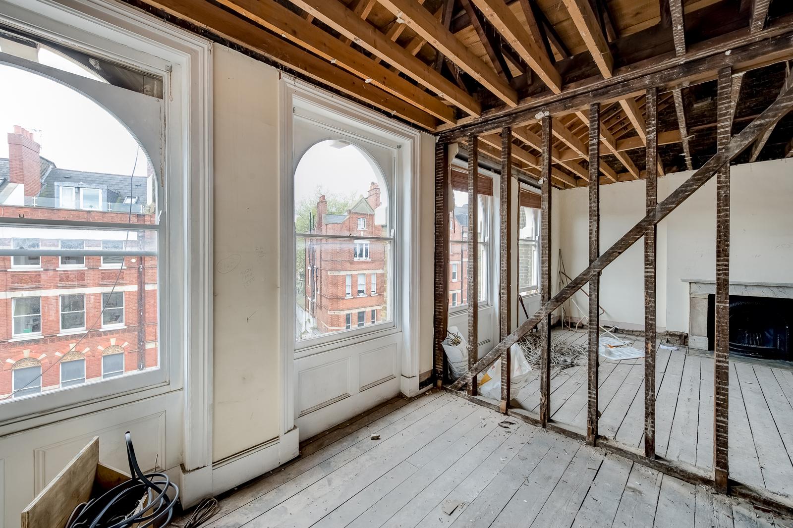 Hampstead Refurbishment: during construction