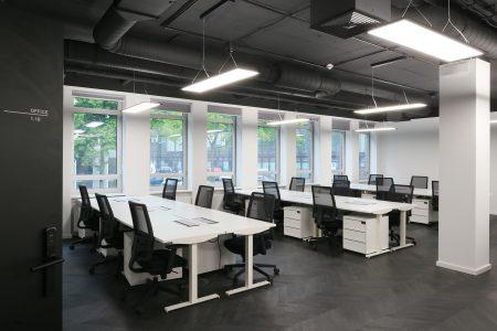 Coworking Hub: Arbeitsbereiche