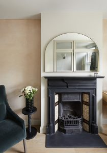 South London Cottage: Victorian fireplace