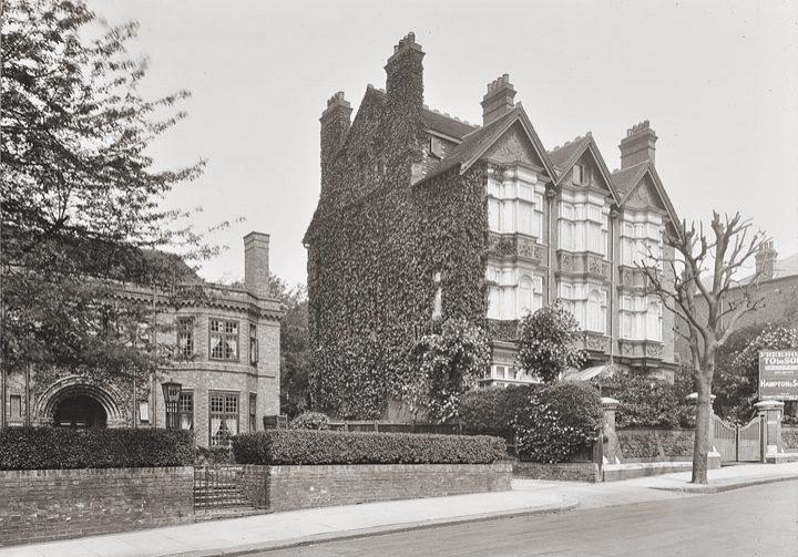 historische Straßenansicht Heath House